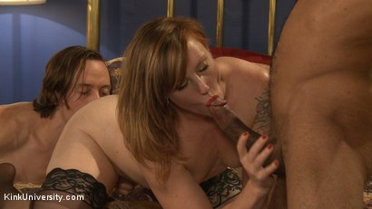Photo number 5 from MMMF Threesomes: How to Perform Double & Triple Penetration shot for Kink University on Kink.com. Featuring Mickey Mod, Owen Gray, Danarama and Sahara Rain in hardcore BDSM & Fetish porn.
