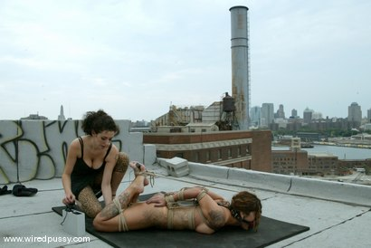 Photo number 12 from WIREDPUSSY IN NEW YORK<br>Part 1<br>Wiredpussy presents a series of public shoots shot in NYC shot for Wired Pussy on Kink.com. Featuring Nadia Styles, Mistress Hidest and Princess Donna Dolore in hardcore BDSM & Fetish porn.