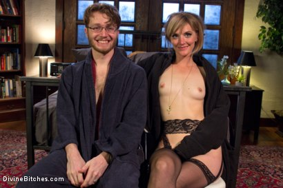 Photo number 2 from Honeymoon Humiliation: Wife Cuckolds New Hubby Into Better Sex shot for Divine Bitches on Kink.com. Featuring Connor Maguire, Mona Wales and Patrick Knight in hardcore BDSM & Fetish porn.