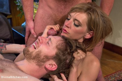 Photo number 11 from Honeymoon Humiliation: Wife Cuckolds New Hubby Into Better Sex shot for Divine Bitches on Kink.com. Featuring Connor Maguire, Mona Wales and Patrick Knight in hardcore BDSM & Fetish porn.