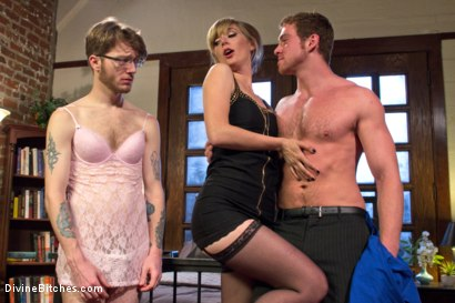 Photo number 17 from Honeymoon Humiliation: Wife Cuckolds New Hubby Into Better Sex shot for Divine Bitches on Kink.com. Featuring Connor Maguire, Mona Wales and Patrick Knight in hardcore BDSM & Fetish porn.