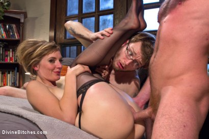 Photo number 4 from Honeymoon Humiliation: Wife Cuckolds New Hubby Into Better Sex shot for Divine Bitches on Kink.com. Featuring Connor Maguire, Mona Wales and Patrick Knight in hardcore BDSM & Fetish porn.