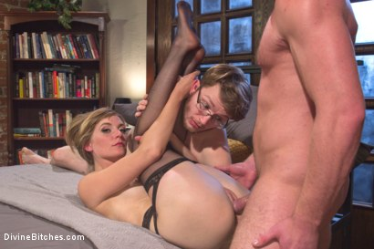 Photo number 6 from Honeymoon Humiliation: Wife Cuckolds New Hubby Into Better Sex shot for Divine Bitches on Kink.com. Featuring Connor Maguire, Mona Wales and Patrick Knight in hardcore BDSM & Fetish porn.