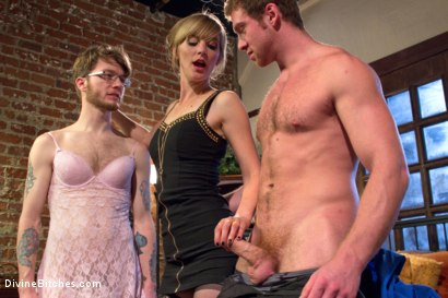 Photo number 19 from Honeymoon Humiliation: Wife Cuckolds New Hubby Into Better Sex shot for Divine Bitches on Kink.com. Featuring Connor Maguire, Mona Wales and Patrick Knight in hardcore BDSM & Fetish porn.