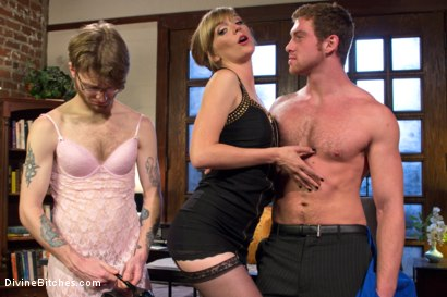 Photo number 20 from Honeymoon Humiliation: Wife Cuckolds New Hubby Into Better Sex shot for Divine Bitches on Kink.com. Featuring Connor Maguire, Mona Wales and Patrick Knight in hardcore BDSM & Fetish porn.