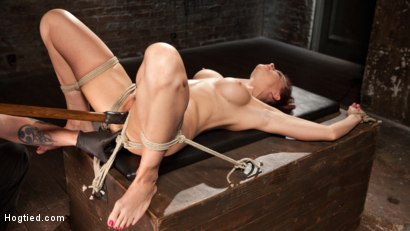 Photo number 10 from Chanel Preston Returns to Hogtied!! shot for Hogtied on Kink.com. Featuring Chanel Preston and The Pope in hardcore BDSM & Fetish porn.
