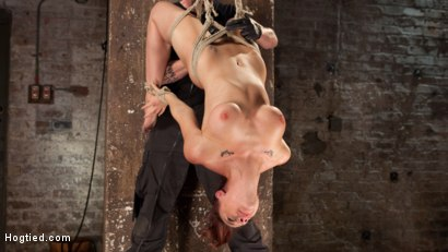 Photo number 14 from Chanel Preston Returns to Hogtied!! shot for Hogtied on Kink.com. Featuring Chanel Preston and The Pope in hardcore BDSM & Fetish porn.