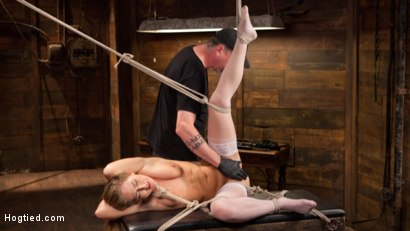 Photo number 11 from California Girl Turned Into a California Slut in Tight Bondage shot for Hogtied on Kink.com. Featuring Carter Cruise in hardcore BDSM & Fetish porn.