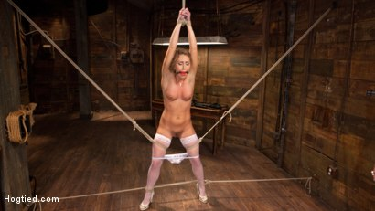 Photo number 13 from California Girl Turned Into a California Slut in Tight Bondage shot for Hogtied on Kink.com. Featuring Carter Cruise in hardcore BDSM & Fetish porn.