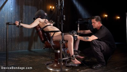 Photo number 14 from Into the Darkness shot for Device Bondage on Kink.com. Featuring Casey Calvert  and The Pope in hardcore BDSM & Fetish porn.