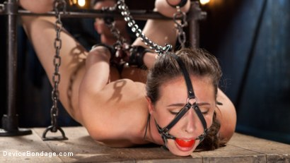 Photo number 5 from Into the Darkness shot for Device Bondage on Kink.com. Featuring Casey Calvert  and The Pope in hardcore BDSM & Fetish porn.