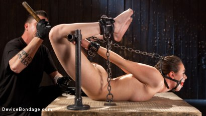 Photo number 6 from Into the Darkness shot for Device Bondage on Kink.com. Featuring Casey Calvert  and The Pope in hardcore BDSM & Fetish porn.