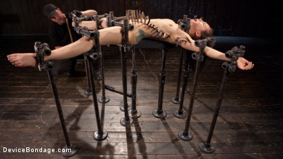 Photo number 12 from Intolerable Brat. shot for Device Bondage on Kink.com. Featuring Gabriella Paltrova and The Pope in hardcore BDSM & Fetish porn.