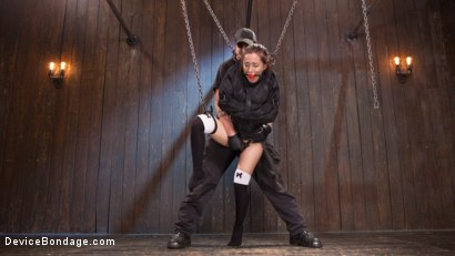 Photo number 3 from Intolerable Brat. shot for Device Bondage on Kink.com. Featuring Gabriella Paltrova and The Pope in hardcore BDSM & Fetish porn.