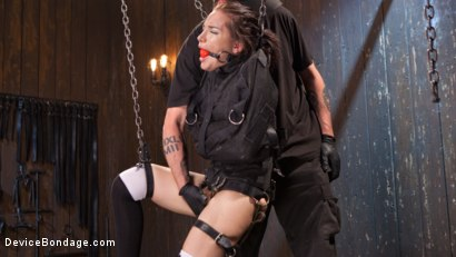 Photo number 4 from Intolerable Brat. shot for Device Bondage on Kink.com. Featuring Gabriella Paltrova and The Pope in hardcore BDSM & Fetish porn.