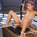 Skin Diamond gets fucked hard in her ass then put in bondage for squirting orgasms