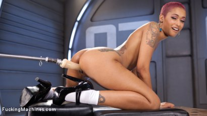 Photo number 5 from Skin Diamond Squirts in Bondage!! shot for Fucking Machines on Kink.com. Featuring Skin Diamond in hardcore BDSM & Fetish porn.