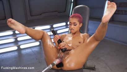 Photo number 6 from Skin Diamond Squirts in Bondage!! shot for Fucking Machines on Kink.com. Featuring Skin Diamond in hardcore BDSM & Fetish porn.