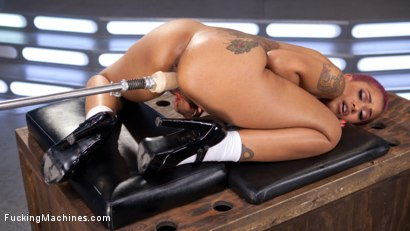 Photo number 2 from Skin Diamond Squirts in Bondage!! shot for Fucking Machines on Kink.com. Featuring Skin Diamond in hardcore BDSM & Fetish porn.