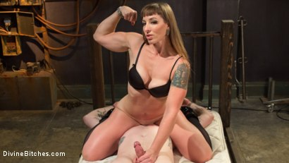 Photo number 9 from Her Muscles, Her Pleasure shot for Divine Bitches on Kink.com. Featuring Mistress Kara and Mike Panic in hardcore BDSM & Fetish porn.
