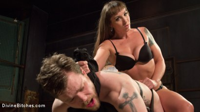 Photo number 14 from Her Muscles, Her Pleasure shot for Divine Bitches on Kink.com. Featuring Mistress Kara and Mike Panic in hardcore BDSM & Fetish porn.