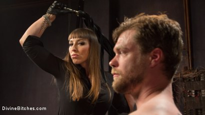 Photo number 5 from Her Muscles, Her Pleasure shot for Divine Bitches on Kink.com. Featuring Mistress Kara and Mike Panic in hardcore BDSM & Fetish porn.