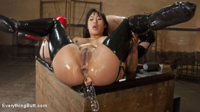 Photo number 6 from Mia Li and Nikki Delano Push their Extreme Anal Skills shot for Everything Butt on Kink.com. Featuring Lea Lexis, Nikki Delano and Mia Li in hardcore BDSM & Fetish porn.