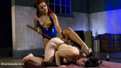 Photo number 8 from The Interrogation: Electric Agony and Sexual Submission shot for Electro Sluts on Kink.com. Featuring Daisy Ducati and Siouxsie Q in hardcore BDSM & Fetish porn.
