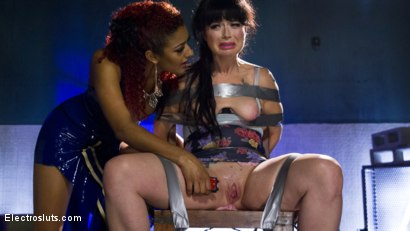 Photo number 1 from The Interrogation: Electric Agony and Sexual Submission shot for Electro Sluts on Kink.com. Featuring Daisy Ducati and Siouxsie Q in hardcore BDSM & Fetish porn.
