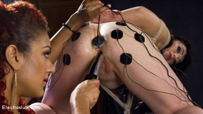 Photo number 11 from The Interrogation: Electric Agony and Sexual Submission shot for Electro Sluts on Kink.com. Featuring Daisy Ducati and Siouxsie Q in hardcore BDSM & Fetish porn.