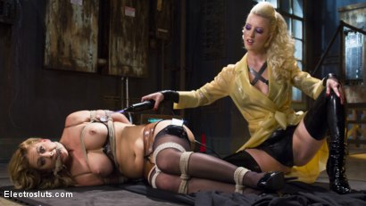 Photo number 1 from Hot Latex Lesbian Electro Sex: Cherry Torn vs. Cherie Deville shot for Electro Sluts on Kink.com. Featuring Cherry Torn and Cherie DeVille in hardcore BDSM & Fetish porn.