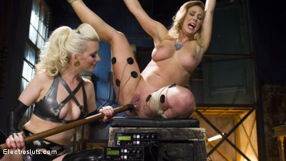 Photo number 4 from Hot Latex Lesbian Electro Sex: Cherry Torn vs. Cherie Deville shot for Electro Sluts on Kink.com. Featuring Cherry Torn and Cherie DeVille in hardcore BDSM & Fetish porn.