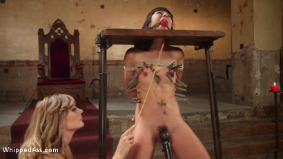 Photo number 16 from Submissive Lesbian Sex Toy: Spanking, Fisting & Anal Strap-on! shot for Whipped Ass on Kink.com. Featuring Mona Wales and Vivi Marie in hardcore BDSM & Fetish porn.