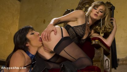 Photo number 6 from Submissive Lesbian Sex Toy: Spanking, Fisting & Anal Strap-on! shot for Whipped Ass on Kink.com. Featuring Mona Wales and Vivi Marie in hardcore BDSM & Fetish porn.