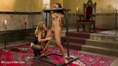 Photo number 10 from Submissive Lesbian Sex Toy: Spanking, Fisting & Anal Strap-on! shot for Whipped Ass on Kink.com. Featuring Mona Wales and Vivi Marie in hardcore BDSM & Fetish porn.