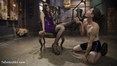 Photo number 11 from Her Rock Hard Dominate Cock and Exquisite Toes! shot for TS Seduction on Kink.com. Featuring Tony Orlando and Michelle Firestone in hardcore BDSM & Fetish porn.