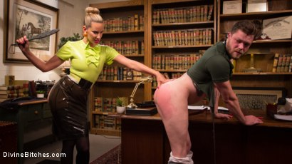 Photo number 7 from Everybody Loves Anal, So Worship That Ass! shot for Divine Bitches on Kink.com. Featuring Maitresse Madeline Marlowe  and Mike Panic in hardcore BDSM & Fetish porn.