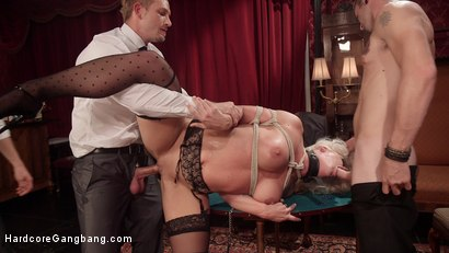 Photo number 3 from All In: Holly Heart gets TRIPLE PENETRATED by HUGE fat cocks! shot for Hardcore Gangbang on Kink.com. Featuring Holly Heart, John Strong, Bill Bailey, Owen Gray, Tommy Pistol and Gage Sin in hardcore BDSM & Fetish porn.