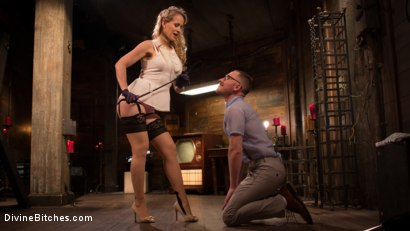 Photo number 11 from Mrs. S. is Evil As Pie shot for Divine Bitches on Kink.com. Featuring Damien Moreau and Simone Sonay in hardcore BDSM & Fetish porn.