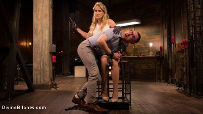Photo number 1 from Mrs. S. is Evil As Pie shot for Divine Bitches on Kink.com. Featuring Damien Moreau and Simone Sonay in hardcore BDSM & Fetish porn.