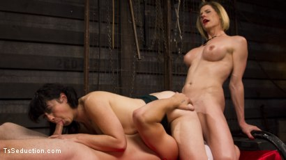 Photo number 11 from Mommy's Dark Secret: A Family Affair shot for TS Seduction on Kink.com. Featuring Tom Faulk, Delia DeLions and Siouxsie Q in hardcore BDSM & Fetish porn.