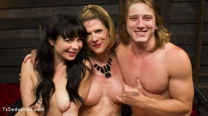 Photo number 7 from Mommy's Dark Secret: A Family Affair shot for TS Seduction on Kink.com. Featuring Tom Faulk, Delia DeLions and Siouxsie Q in hardcore BDSM & Fetish porn.