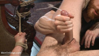 Photo number 13 from Wolf Hudson's giant uncut cock gets tied up and relentlessly edged shot for Men On Edge on Kink.com. Featuring Wolf Hudson in hardcore BDSM & Fetish porn.