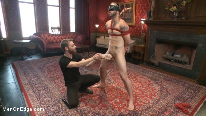 Photo number 4 from Wolf Hudson's giant uncut cock gets tied up and relentlessly edged shot for Men On Edge on Kink.com. Featuring Wolf Hudson in hardcore BDSM & Fetish porn.