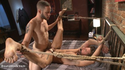 Photo number 12 from Brotherly Love shot for Bound Gods on Kink.com. Featuring Wolf Hudson and Brendan Patrick in hardcore BDSM & Fetish porn.