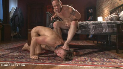 Photo number 7 from Brotherly Love shot for Bound Gods on Kink.com. Featuring Wolf Hudson and Brendan Patrick in hardcore BDSM & Fetish porn.