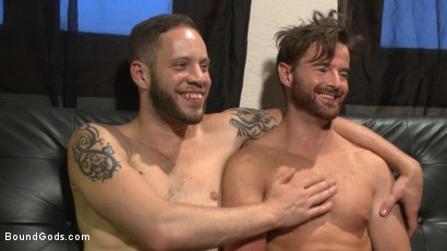 Photo number 15 from Brotherly Love shot for Bound Gods on Kink.com. Featuring Wolf Hudson and Brendan Patrick in hardcore BDSM & Fetish porn.