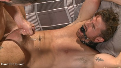 Photo number 14 from Brotherly Love shot for Bound Gods on Kink.com. Featuring Wolf Hudson and Brendan Patrick in hardcore BDSM & Fetish porn.