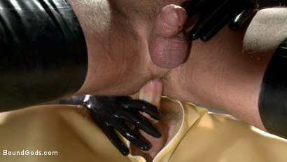 Photo number 8 from Christian Wilde's Latex Meat Locker shot for Bound Gods on Kink.com. Featuring Christian Wilde and Coby Mitchell in hardcore BDSM & Fetish porn.
