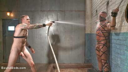 Photo number 9 from Christian Wilde's Latex Meat Locker shot for Bound Gods on Kink.com. Featuring Christian Wilde and Coby Mitchell in hardcore BDSM & Fetish porn.